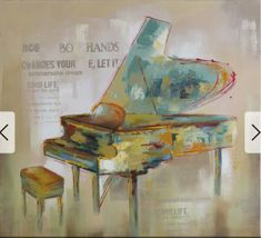Shop for Yosemite Home Decor 'Paris Piano' Original Hand-painted Wall Art. Get free delivery On EVERYTHING* Overstock - Your Online Art Gallery Store! Canvas Fabric, Canvas Wall Art, Canvas Prints, Hand Painted Walls, Hand Painting Art, Home Decor Wall Art, Room Decor, Cottage Living, Cozy Cottage