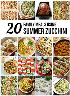 20 Family-Friendly Dinners Using Zucchini - so many great ideas for our summer zucchini, #8 is my kids' favorite!