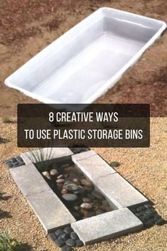 Expert DIYer Uses Plastic Storage Bins In Ways I Never Expected. Here are 8 Brilliant Ideas Plastic storage bins can solve so many common problems. Here's how you can upcycle them to solve a bunch of problems at the house! Magic Garden, Diy Garden, Garden Ideas, Plastic Storage, Storage Bins, Art Storage, Plywood Storage, Plastic Bins, Plastic Wrap