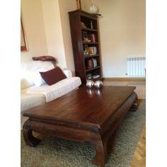 Mesa de centro de opio china  . Madera de teca con acabado antiguo. Medidas 140 x 90 cms.tiene una gran calidad y un acabado que le hace parecer una antigüedad.  Estado: muy bueno  mallstreet.es