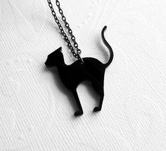Halloween Black Cat Necklace