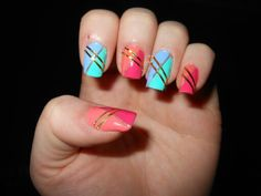 Barry M Patterned Nail Art