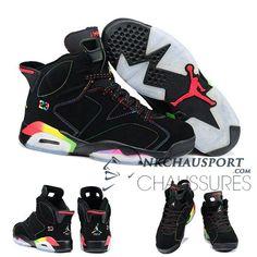 detailed pictures 6b7e9 910c3 Nike Air Jordan 6   Classique Chaussure De Basket Homme Noir-10 Cheap  Jordans,