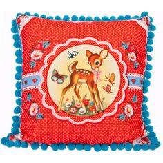 Dumpling dynasty cushion- love the pompoms