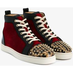 42e3a893a6a CHRISTIAN LOUBOUTIN Lou Spikes Leather   Suede High-Top Sneakers Men s High  Top Sneakers