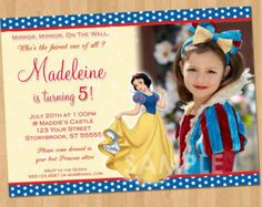 Snow White INVITATION Girl Birthday Disney por CraftyCreationsUAE
