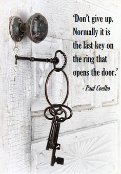 White, rustic, key, charm from Gypsy Purple home. Antique Keys, Vintage Keys, Antique Hardware, Great Quotes, Me Quotes, Inspirational Quotes, Motivational, Knobs And Knockers, Door Knobs