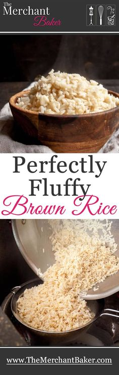 No more mushy, wet or sticky brown rice. This is the easy, fool proof secret to cooking perfect brown rice. (soak rice overnight first) Perfect Brown Rice, Quinoa, Cooking Tips, Cooking Recipes, Cooking Games, Vegetarian Recipes, Healthy Recipes, Fast Recipes, Healthy Tips