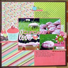 """layout made with Shimelle's latest """"starting point"""" background. #scrapbook #layout"""