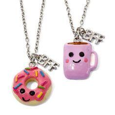 Necklaces Lauren, Bffs Necklaces, Donut Necklaces, Cute Friendship Necklaces, Pc…