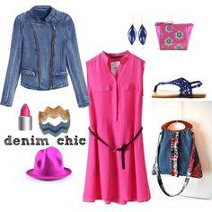 Denim chic by lemiecreazionidarte on Polyvore featuring moda, Charlotte Russe, Aurélie Bidermann, H&M and Vera Bradley