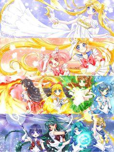 World of Eternal Sailor Moon — Fanart by しらたき. Sailor Moon Y Darien, Arte Sailor Moon, Sailor Moon Stars, Sailor Moon Fan Art, Sailor Chibi Moon, Sailor Neptune, Sailor Uranus, Sailor Mars, Sailor Moon Crystal