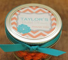 Our personalized mason jars are the perfect way to thank your guests for sharing your special day. Our stylish personalized label designs are
