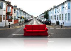 red couch, be mine! Red Sofa, Red Couches, I See Red, Sofa Inspiration, Apartment Sofa, Sofa Couch, Sofa Colors, Simply Red, Luxury Sofa