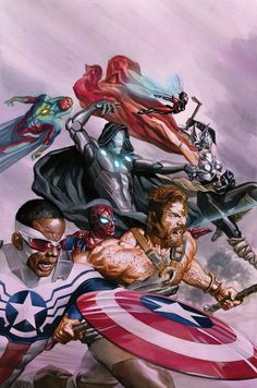 Daily reading: Avengers vol 7 (Waid, Whitley, Noto) - regular cover by Alex Ross - Stan Lee Box cover by Ron Lim Marvel Comic Character, Comic Book Characters, Marvel Characters, Marvel Movies, Comic Books Art, Comic Art, Book Art, Marvel Avengers Comics, Avengers Art