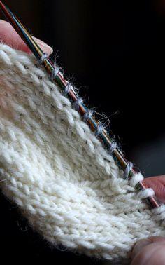 KANTAPÄÄVINKKEJÄ Kantapää joutuu sukassa yleensä kovimmalle kulutukselle, joten se kannattaa neuloa vahvistettua neuletta . ... Crochet Socks, Crochet Motif, Knit Crochet, Knitting Stitches, Knitting Socks, Knitting Patterns, Hobbies And Crafts, Diy And Crafts, Wool Socks