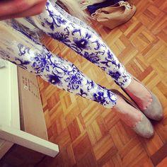 ROMWE PRINT LEGGINGS