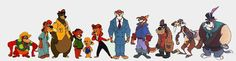 Tale Spin characters from the late, lamented Disney Afternoon