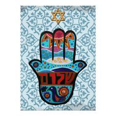 Hamsa Bar Bat Mitzvah Invitation