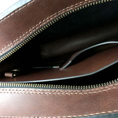 2102 top open leather briefcase - 26