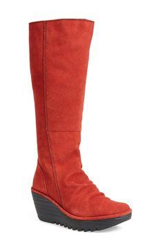 Fly London 'Yust' Knee High Platform Wedge Boot (Women)