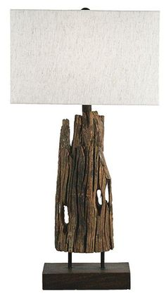 Interior HomeScapes offers the Reclaimed Drift Wood Table Lamp by Regina Andrew Design. Visit our online store to order your Regina Andrew Design products today. Timber Table, Table Lamp Wood, Wood Lamps, Table Lamps, Driftwood Table, Driftwood Projects, Driftwood Ideas, Reclaimed Timber, Weathered Wood