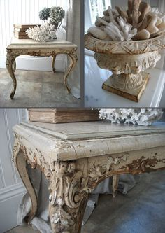 Oh MY HEAVENS!!!  Love the crackle on this table.