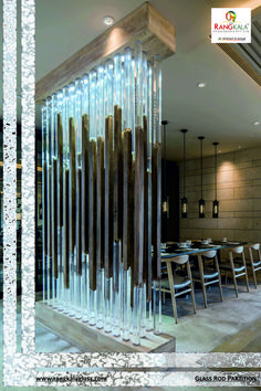 elevation glass pillar use in main room look different and exclusive.