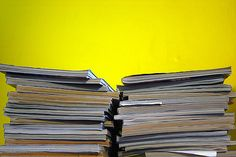 magazines and yellow wall | Flickr - Photo Sharing!