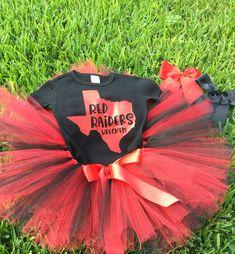 Red Raiders/Texas Tech Tutu/Little Cheerleader/Red and Black/Wreck'em/Baby Girl Tutu Set/Lubbock Texas by sunnyvilledesigns on Etsy https://www.etsy.com/listing/553798011/red-raiderstexas-tech-tutulittle