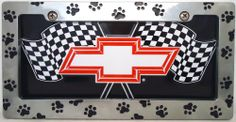 """1 , Bowtie Metal Sign, """" ,CHEVY, RED, BOW TIE, on, CHECKERED FLAGS, """", Metal Sign, by, Black, Paw Prints, Metal Frame, ,25A5.0&29B3.0,,,SHIPPED USPS,,,, ASTRODEALS,http://www.amazon.com/dp/B00HXJPFYW/ref=cm_sw_r_pi_dp_vVV-sb0GR51GJQ6Z"""