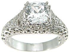 Vintage wedding Diamond ring. In white gold 18k. Precious  SLVH ♥♥♥