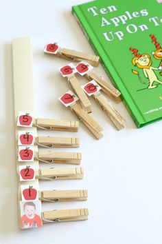 Ten Apples Up on Top counting activity and fine motor practice.