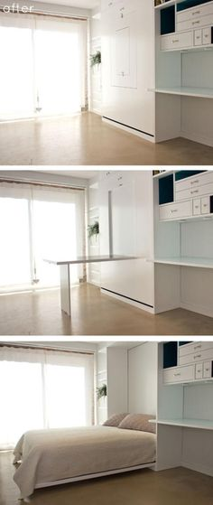 space-saving design by General Assembly - minimalism, minimalist living space, small space design, space-saving furniture, multifunctional furniture