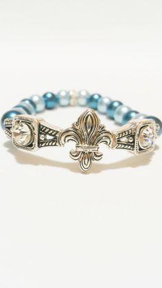 Pearl Fleur De Lis Bracelet
