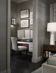 Bedroom Design Ideas, Pictures, Remodels and Decor Nook - possible use for shoe closet