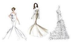 Resultado de imagem para desenhos de vestidos de estilistas