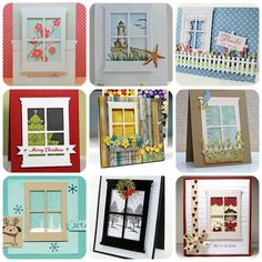 I love these! I love windows, and I love different scenes, This is so cute!