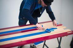 Emil fra ArtRebels har skabt et DIY produkt af 2 NORDEN bænke fra IKEA