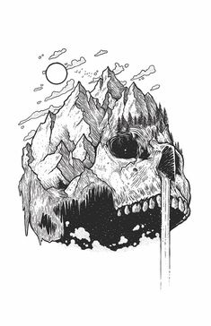 Amazing Pen and Ink Cross Hatching Masters Edition Ideas. Incredible Pen and Ink Cross Hatching Masters Edition Ideas. Hand Illustration, Ink Illustrations, Ink Drawings, Drawing Sketches, Cool Drawings, Drawings Of Skulls, Artwork Drawings, Detailed Drawings, Pen Art