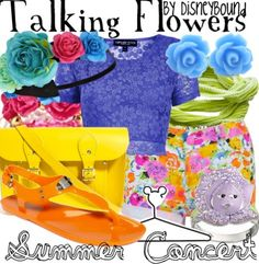 Talking flowers summer outfit by Disneybound