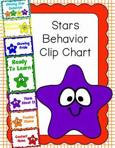 Behavior Clip Chart - Behavior Management - Stars 3, $