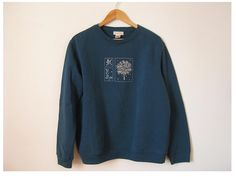 1990s embroidered sweatshirt  vintage 90s hipster by EcoCentrik