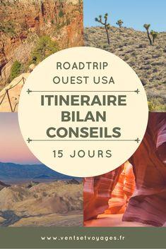 Détails de notre roadtrip de 15 jours dans l'ouest des USA et des parcs nationaux #roadtripusa