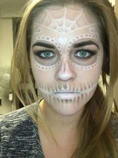 A subtle sugar skull done with off-the-shelf makeup - Halloween looks - Imgur