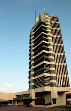 Completed in 1956, the Price Tower in Bartlesville, Oklahoma is the first and only realized high-rise design project by the famed architect Frank Lloyd Wright.