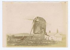 IRELAND an Old Windmill - Antique Photograph c1900.(Actually IRBY Mill near Liverpool.)