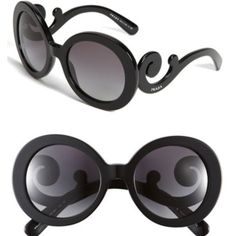 Prada Baroque Sunnies! Authentic ! 😎 Purchased from Nordstrom's, and they are still currently selling them for $290 the color I have is called Havana. They are awesome unique sunglasses but I would like to get a new pair of sunglasses which is why I'm selling these! 😎 It kills me to gives these up! 😰😩😭 These have been spotted on so many hot celebrities like Kourtney Kardashian , Mary Kate & Ashley Olsen, Jessica Simpson, Rihanna and many more! Prada Accessories Sunglasses