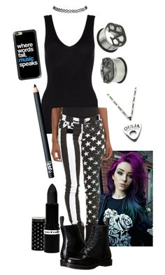 """""""Untitled #225"""" by mysummersky ❤ liked on Polyvore featuring Hanro, Tripp, Dr. Martens, Hard Candy, NARS Cosmetics, Moonchild, Wet Seal and Casetify"""