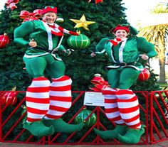 Christmas Stilts to Hire from Christmas Bells to Santa Elf stilts - UK Christmas Events, Christmas Bells, Christmas Morning, Christmas Themes, Christmas Ornaments, Balloon Modelling, Xmas Lights, Walkabout, Christmas Costumes